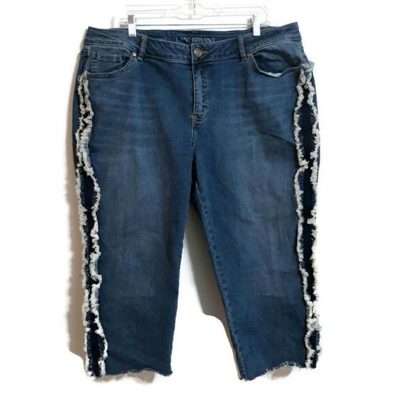 Lane Bryant Denim - Lane Bryant cropped jeans frayed trim raw hem sz20